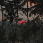 バリ島ウブド近郊2014年11月20日(木)の朝陽