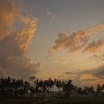 バリ島ウブド近郊2014年11月26日(水)の朝陽、は見えませんでした。