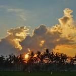 バリ島ウブド近郊2015年2月8日(日)の朝陽