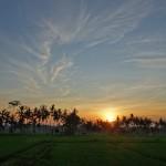 バリ島ウブド近郊2015年2月10日(火)の朝陽