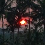 バリ島ウブド近郊2015年11月23日(月)の朝陽