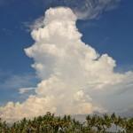 バリ島の入道雲