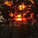 【動画あり】バリ島ウブド近郊2016年1月24日(日)の朝陽