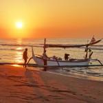 バリ島ヌガラ2016年1月6日(水)の朝陽