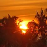 バリ島ウブド近郊2016年2月22日(月)の朝陽