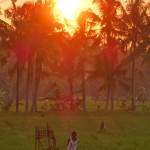 バリ島ウブド近郊2016年2月25日(木)の朝陽