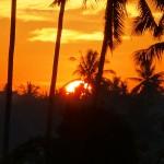 【日の出動画あり】バリ島ウブド近郊2016年3月20日(日)の朝陽