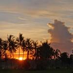 【朝焼け動画あり】バリ島ウブド近郊2016年3月24日(木)の朝陽