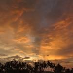 【にわか雨が迫り来る動画有り】バリ島ウブド近郊2016年4月22日(金)朝の風景