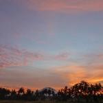 【朝焼けの様子を時間差で3回動画撮影しました】バリ島ウブド近郊2016年6月22日(水)朝の風景