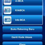 BCA mobileトップ画面